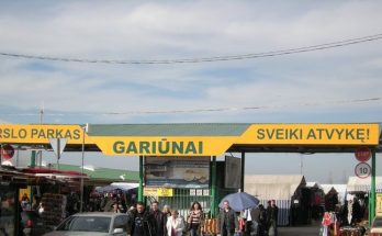 Рынок Gariunai в Вильнюсе